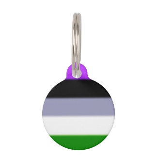 Falln Genderqueer Pride Flag Pet ID Tag