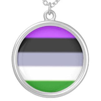 Falln Genderqueer Pride Flag Round Pendant Necklace
