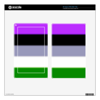 Falln Genderqueer Pride Flag Skin For Kindle Fire