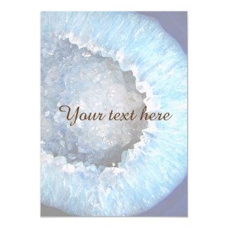 """Falln Geode cristalino azul Invitación 5"""" X 7"""""""