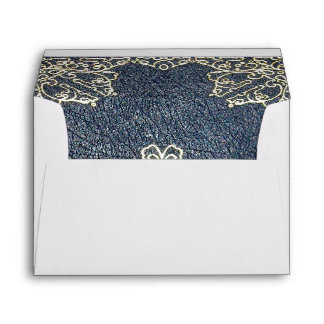 Falln Gilded Gold and Blue Book Envelope