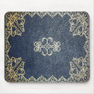 Falln Gilded Gold and Blue Book Mouse Pad