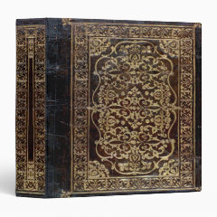Falln Faux Gold Gilded Leather Tome Book of Shadows Binder