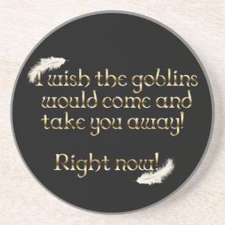 Falln Goblins Take You Away Sandstone Coaster