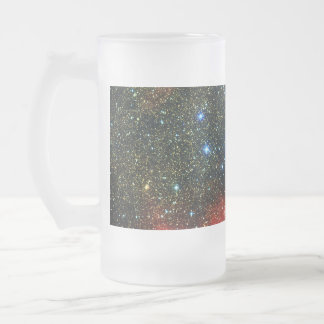 Falln Gold Dusted Galaxy Frosted Glass Beer Mug