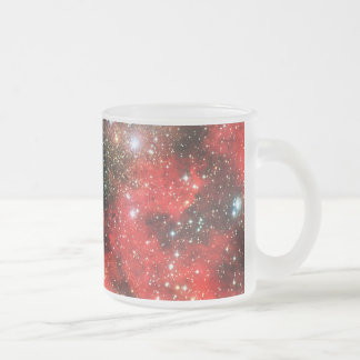 Falln Gold Dusted Galaxy Frosted Glass Coffee Mug
