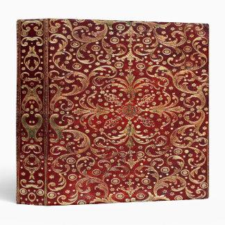Falln Gold Swirled Red Book Binder