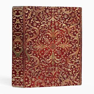 Falln Gold Swirled Red Book Mini Binder