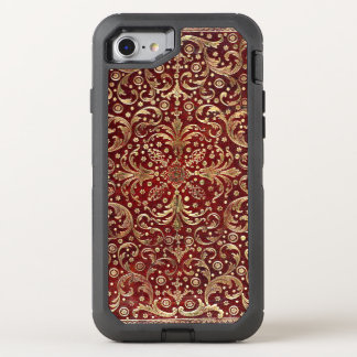 Falln Gold Swirled Red Book OtterBox Defender iPhone 7 Case