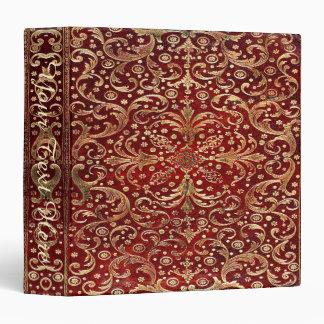 Falln Gold Swirled Red Book (text) 3 Ring Binder