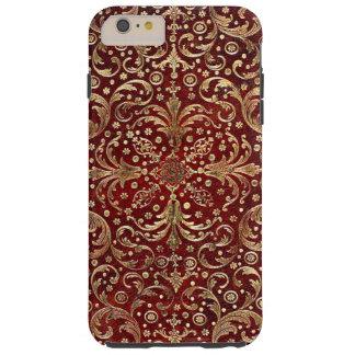 Falln Gold Swirled Red Book Tough iPhone 6 Plus Case
