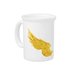 Falln Golden Angel Wings Drink Pitcher