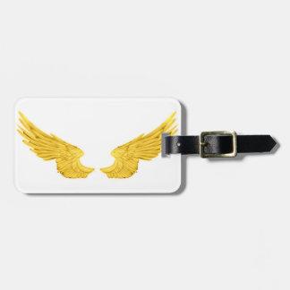 Falln Golden Angel Wings Luggage Tag