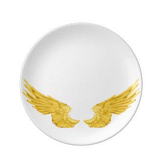 Falln Golden Angel Wings Plate