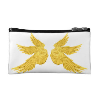 Falln Golden Archangel Wings Cosmetic Bag