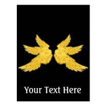 Falln Golden Archangel Wings Postcard