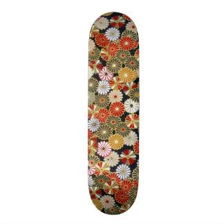 Falln Golden Chrysanthemums Skateboard