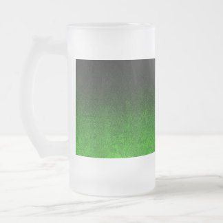 Falln Green & Black Glitter Gradient Frosted Glass Beer Mug