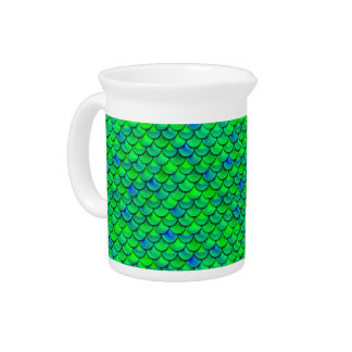 Falln Green Blue Scales Pitcher