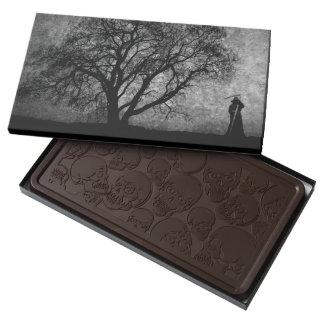 Falln Grim Reaper Original Art Boundaries Between Dark Chocolate Bar