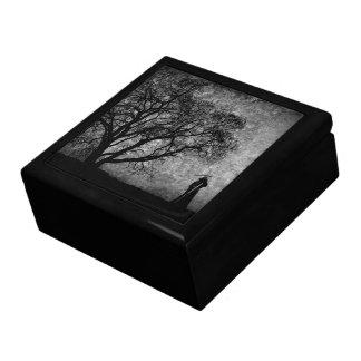 Falln Grim Reaper Original Art Boundaries Between Jewelry Box