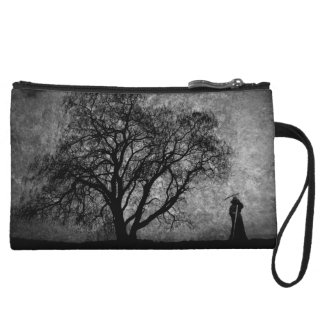Falln Grim Reaper Original Art Boundaries Between Wristlet Wallet