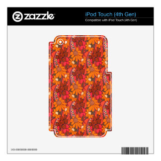 Falln Groovy Flowers Skin For iPod Touch 4G