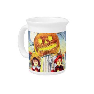 Falln Halloween Pumpkin Ghost Beverage Pitcher