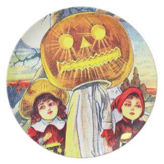 Falln Halloween Pumpkin Ghost Dinner Plate