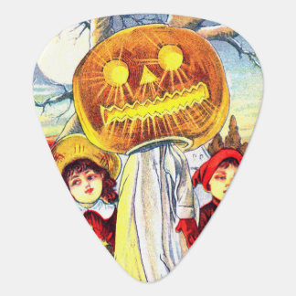 Falln Halloween Pumpkin Ghost Guitar Pick