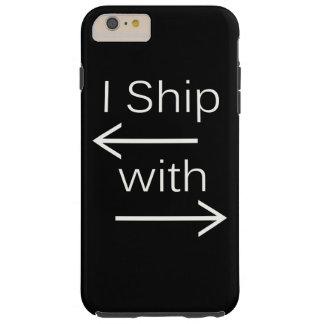 Falln I Ship It (You Choose Background Color!) 2 Tough iPhone 6 Plus Case