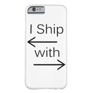 Falln I Ship It (You Choose Background Color!) Barely There iPhone 6 Case