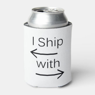 Falln I Ship It (You Choose Background Color!) Can Cooler