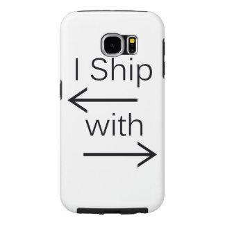 Falln I Ship It (You Choose Background Color!) Samsung Galaxy S6 Case