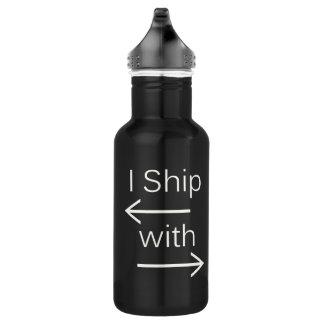 Falln I Ship It (You Choose Background Color!) Water Bottle