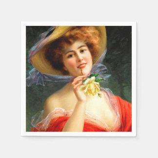 Falln Lady in Red Paper Napkin