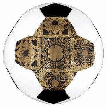 Halloween Themed Falln Lament Spread Soccer Ball
