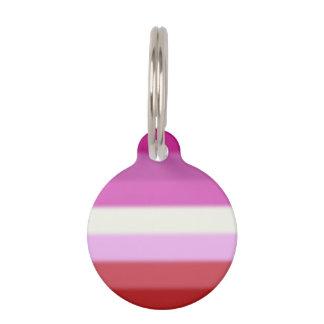 Falln Lesbian Pride Flag Pet Name Tag