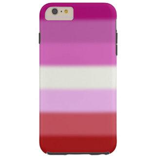Falln Lesbian Pride Flag Tough iPhone 6 Plus Case