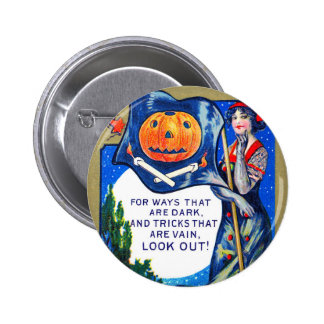 Falln Look Out Halloween Time Button