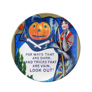 Falln Look Out Halloween Time Dinner Plate