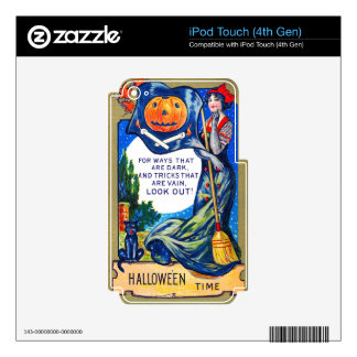 Falln Look Out Halloween Time iPod Touch 4G Skins