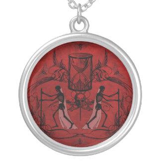 Falln Memento Mori Silver Plated Necklace