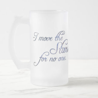 Falln Move The Stars Frosted Glass Beer Mug