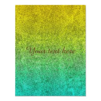 Falln Ocean Sunrise Glitter Gradient Card