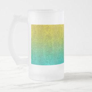 Falln Ocean Sunrise Glitter Gradient Frosted Glass Beer Mug