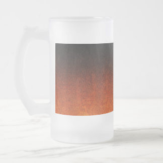 Falln Orange & Black Glitter Gradient Frosted Glass Beer Mug