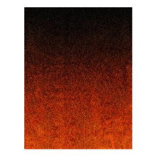 Falln Orange & Black Glitter Gradient Postcard