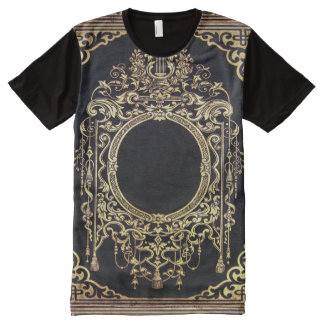 Falln Ornate Gold Frame (Perfect for a Monogram!) All-Over-Print Shirt