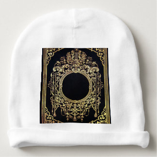 Falln Ornate Gold Frame (Perfect for a Monogram!) Baby Beanie